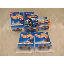 5 Hot Wheels Chevy 1500s