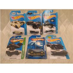 6 Hot Wheels Batmobiles