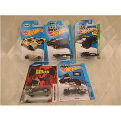5 Hot Wheels Batmobiles