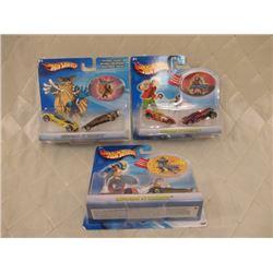 3 Hot Wheels Megaman 2-Packs