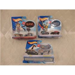 3 Hot Wheels 2- Packs with stickers
