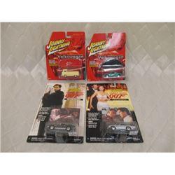 4 Johnny Lightning Cars