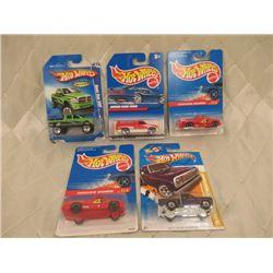 5 Hot Wheels Dodge Trucks