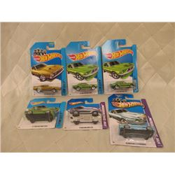 6 Hot Wheels Mustangs
