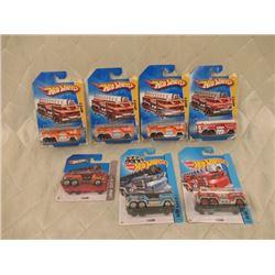 "7 Hot Wheels ""5 Alarm"" Fire Trucks"