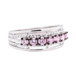 0.50 ctw Pink Topaz Ring - 10KT White Gold