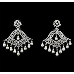 2.95 ctw Diamond Earrings - 14KT White Gold