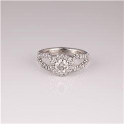 1.07 ctw Diamond Ring - 14KT White Gold