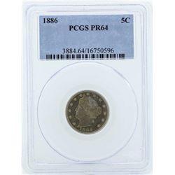 1886 Liberty V Proof Nickel Coin PCGS PR64