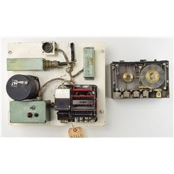 Torpedo Gyro/Recorder Assembly and Miniature Military Reel-to-Reel Tape Recorder