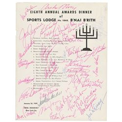 1959 B'nai B'rith Sports Lodge Signed Dinner Program with Unitas and Many other Hall of Famers