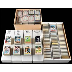 1980s-1990s Baseball Hall of Famers Card Collection of (2,000+) cards with Ryan and Ripken