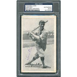 Sam Rice 1921 Signed Exhibit Card - PSA/DNA