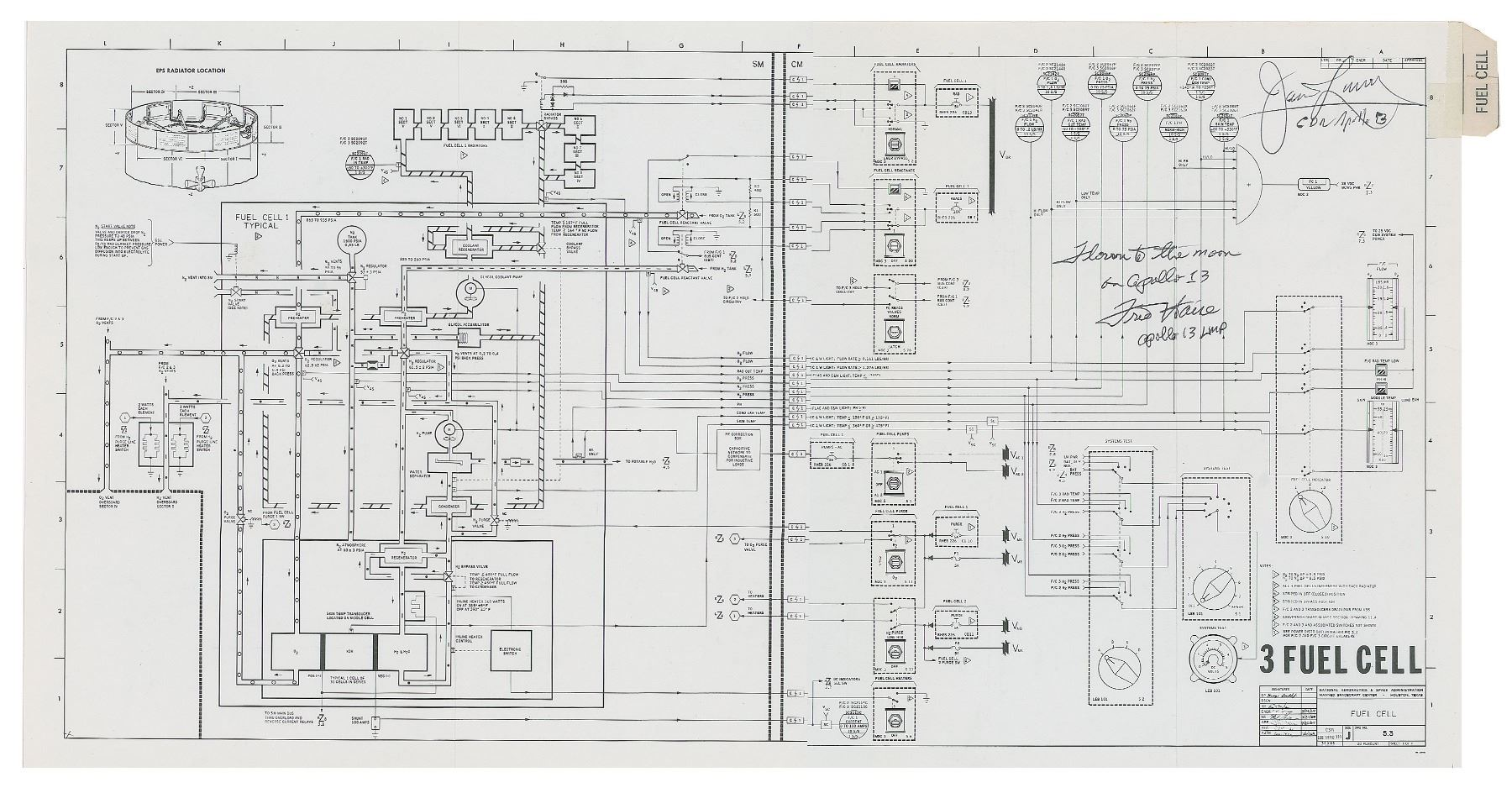 Apollo 13 Flown Fuel Cell Schematic