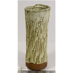 14) JANO LETTS SIGNED TEXTURED CERAMIC VASE,