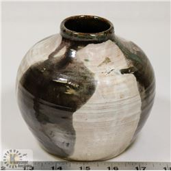 46) TWO TONED GLAZED POT, SIGNED MH PROVOST