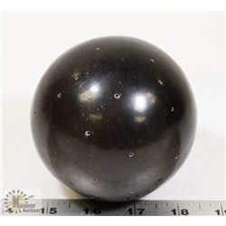 "64) MARY BORGSTROM SIGNED BLACK SPHERE 4"" DIAMETER"