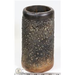 10) MARY BORGSTROM POT SIGNED 1970, INFUSED GLASS,