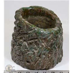 86) MARY BORGSTROM GREEN TEXTURED CERAMIC POT
