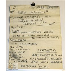 113) 1966 MARY BORGSTROM HAND DRAWN WORKSHOP