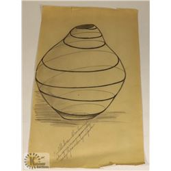 122) MARY BORGSTROM SWIRL POTTERY DESIGN WITH