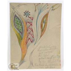 120) MARY BORGSTROM SURREALIST DRAWING WITH
