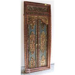 ANTIQUE BALINESE TEMPLE DOOR. APPROX 8' X 36""