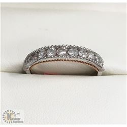 CHANNEL SET CANADIAN DIAMOND WEDDING BAND