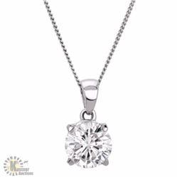 GIA CERTIFIED 1 CARAT DIAMOND SOLITAIRE PENDANT
