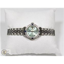 LADIES AUTHENTIC ROLEX WATCH WITH DIAMONDS AND