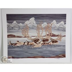 TRAVELER OF THE TUNDRA PRINT BY R. CRAIG #27/500