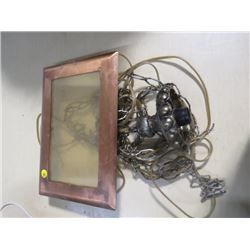SWAG LAMP ELECTRICAL FIXTURE (COPPER CEILING MOUNT)
