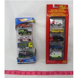 LOT OF 2 PACKAGES OF MATCHBOX CARS ( BOX OF 5 HOTWHEELS) *BOX OF 5 TONKA*