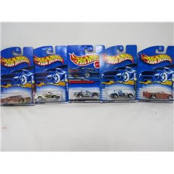 HOTWHEELS 5 VEHICLE LOT (SONIC SPECIAL, DODGE VIPER, SHELBY COBRA 427, MUSTANG 1996, CHEVY IMPALA 19