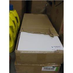 KV MFG 1980 WHITE 5PC SHELF X 2 BOXES 10 INCH X 24 INCH