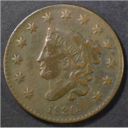 1830 LARGE CENT FINE