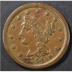1844 LARGE CENT AU