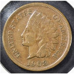 1908-S INDIAN HEAD CENT VF/XF