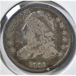 1831 BUST DIME, F/VF