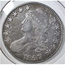1827 BUST HALF DOLLAR, VG/FINE