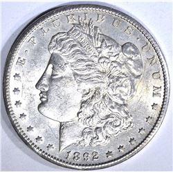 1892-CC MORGAN DOLLAR, CH BU