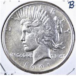 1921 PEACE DOLLAR, CH BU NICE!!