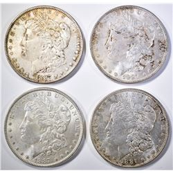 (4) 1887 MORGAN DOLLARS  BU
