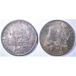 1888-O & 1889 MORGAN DOLLARS  CH BU