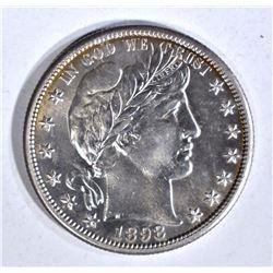 1898-S BARBER HALF DOLLAR, CH BU