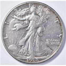 1938-D WALKING LIBERTY  XF  KEY DATE