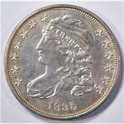 1835 BUST DIME AU/BU