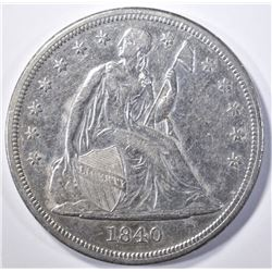 1840 SEATED LIBERTY DOLLAR AU