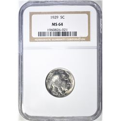 1929 BUFFALO NICKEL  NGC MS-64