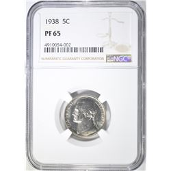 1938 BUFFALO NICKEL  NGC PF-65